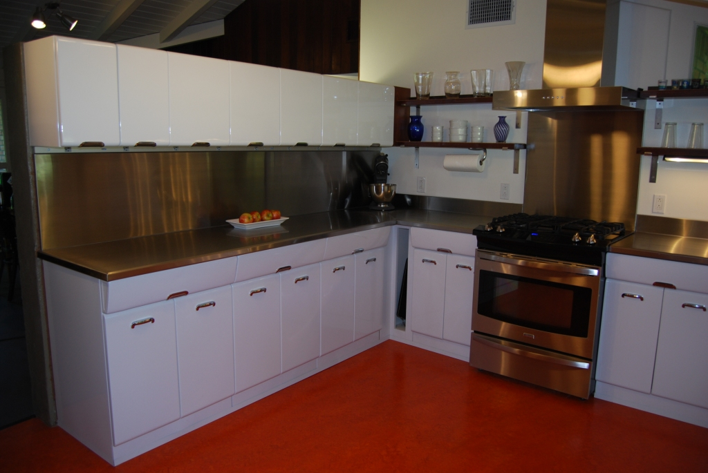... Mid Century Modern Kichen Renovation. Photo Of Refinished 1950s Metal  Cabinets